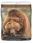 Grizly Lunch Duvet Cover
