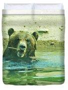 Grizzly Bath Duvet Cover