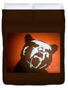 Grizzly Bear Graffiti Duvet Cover by Edward Fielding