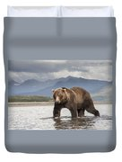 Grizzly Bear In River Katmai Np Alaska Duvet Cover
