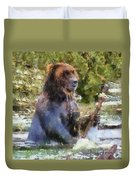 Grizzly Bear Photo Art 02 Duvet Cover