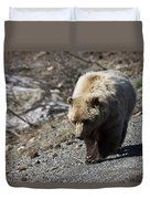 Grizzly By The Road Duvet Cover