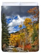 Grizzly Creek Cottonwoods Duvet Cover