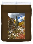 Grizzly Creek Cottonwoods Vertical Duvet Cover