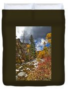 Grizzly Creek Vertical Duvet Cover
