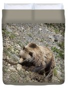 Grizzly Digging Duvet Cover