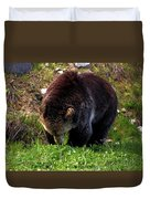 Grizzly Grazing Duvet Cover