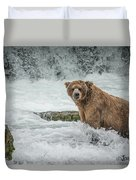 Grizzly Stare Duvet Cover