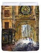 Gros Horlaoge Rouen France Duvet Cover