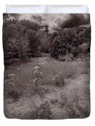Gross Point Beach Grasses Bw Duvet Cover