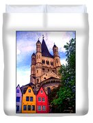 Gross St. Martin In Cologne Germany Duvet Cover