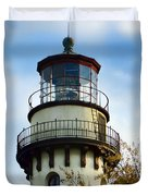 Grosse Point Lighthouse Duvet Cover