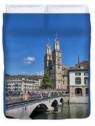 Grossmuenster Zurich Duvet Cover