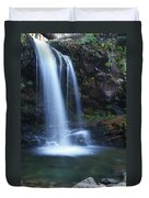 Grotto Falls Great Smoky Mountains Duvet Cover