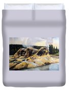 Grotto Geyser Yellowstone Np 1928 Duvet Cover