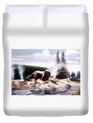 Grotto Geyser Yellowstone Np Duvet Cover
