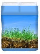 Ground And Grass Duvet Cover