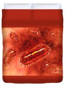 Group Of Escherichia Coli Bacteria Duvet Cover