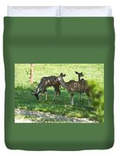 group of Kudu Antelope Duvet Cover