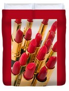 Group Of Red Lipsticks Duvet Cover