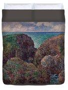 Group Of Rocks At Port Goulphar Duvet Cover