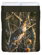 Grouse In An Apple Tree Duvet Cover