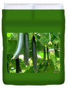 Growing Cucumbers Duvet Cover