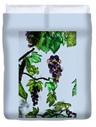 Growing Glass Grapes Duvet Cover
