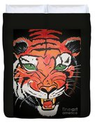 Growling Tiger Duvet Cover