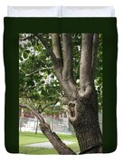 Growth On The Survivor Tree Duvet Cover