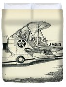 Grumman J2f-2a  Amphibian Duvet Cover