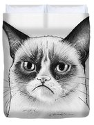 Grumpy Cat Portrait Duvet Cover
