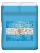 Grunge Argentina Flag Duvet Cover