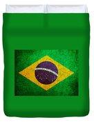 Grunge Brazil Flag Duvet Cover