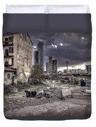 Grunge Cityscape Duvet Cover