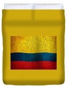 Grunge Colombia Flag Duvet Cover