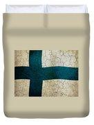Grunge Finland Flag Duvet Cover