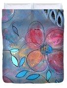 Grunge Floral II Duvet Cover