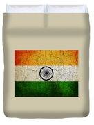 Grunge India Flag Duvet Cover