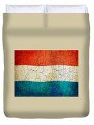 Grunge Luxembourg Flag Duvet Cover