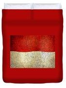 Grunge Monaco Flag Duvet Cover