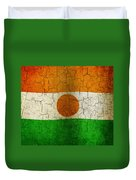 Grunge Niger Flag Duvet Cover