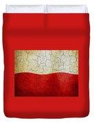 Grunge Poland Flag Duvet Cover