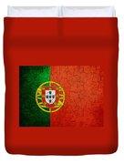 Grunge Portugal Flag Duvet Cover