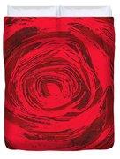 Grunge Rose Duvet Cover