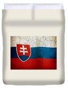 Grunge Slovakia Flag Duvet Cover