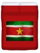 Grunge Suriname Flag Duvet Cover