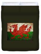 Grunge Wales Flag Duvet Cover