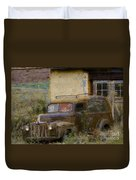 Grungy Vintage Ford Panel Truck Duvet Cover