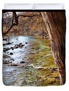 Guadalupe River View Duvet Cover